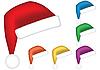 Vector clipart: Santa caps