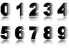 Vector clipart: Digits
