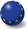European union flag on ball