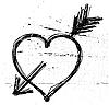 Vector clipart: grunge heart symbol