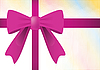 Vector clipart: Ribbon and purple bow