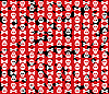 Vector clipart: Skulls grunge background