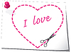 Vector clipart: Valentine`s greeting card