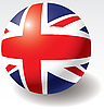 Vector clipart: United Kingdom flag on ball