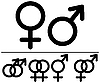 Male and female symbols | Stock Vector Graphics