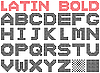 Vector clipart: Bold dotted alphabet