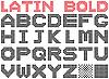 Bold dotted alphabet