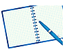 Vector clipart: Notepad and pen