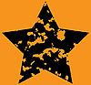 Vector clipart: Grunge Star