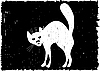 Vector clipart: Very malicious cat