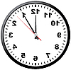 Vector clipart: On the contrary clock