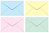 Vector clipart: Colored set of envelopes