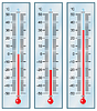 Vector clipart: Thermometers