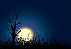 Baum-Silhouette unter dem Mond