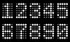 Weiße Matrix-Ziffern | Stock Vektrografik