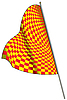 Vector clipart: Yellow-red racing flag