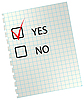 Vector clipart: Yes or No choice
