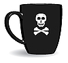 Vector clipart: Black terrible mug