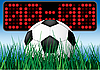 Vector clipart: Beginning soccer game