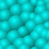 Vector clipart: background with blue bubbles