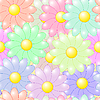 Vector clipart: flower colorful background