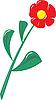 Векторный клипарт: Пластиковый цветок