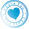 Vector clipart: Stamp -I love you-