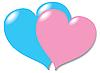 Векторный клипарт: Два влюбленных сердца