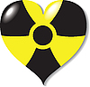 Vector clipart: Atomic (Nuclear) heart, danger!