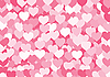 Vector clipart: The background consisting of set of hearts