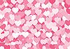 Векторный клипарт: Фон, состоящий из набора сердца