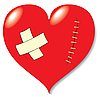 Vector clipart: Wound on heart from love