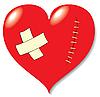 Векторный клипарт: Рана на сердце от любви