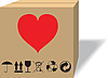 Vector clipart: What in cardboard box?