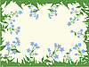 Vector clipart: frame of forget-me-not flowers