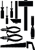 Vector clipart: Set of the tools