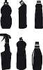 Vector clipart: Bottles for washing-up liquids