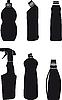 Векторный клипарт: Бутылочки для моющих средств