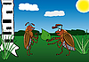 Vector clipart: Spring. May. The enamoured bug