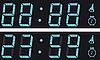 Vector clipart: The display digital clock