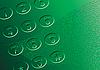 Векторный клипарт: Аннотация зеленом фоне. Циферблат
