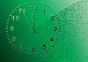 Vector clipart: Abstract green background. Time