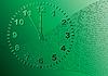 Векторный клипарт: Аннотация зеленом фоне. Время