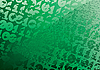 Vector clipart: Abstract green background. Digits. Grunge