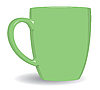 Vector clipart: Green mug background