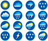 Vector clipart: Symbols for the indication of weather