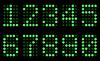 Vector clipart: Green digits for matrix display
