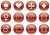 Векторный клипарт: Игр набор иконок