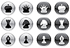 Vector clipart: Chess icons set
