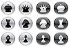 Векторный клипарт: Шахматы набор иконок
